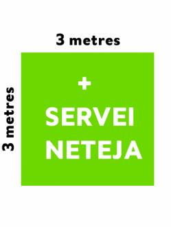 PO – Estand 3x3metres amb neteja