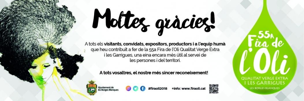 Gràcies per formar part de la promoció de l'Oli i les Garrigues