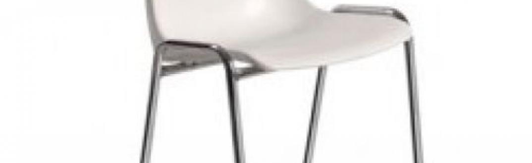 Cadira blanca de PVC