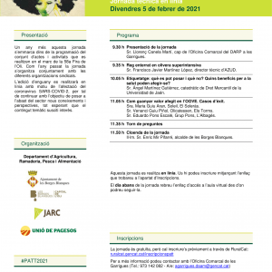 JORNADES TÈCNIQUES – NOVES DATES – ACTUALITAT EN EL SECTOR OLEÍCOLA