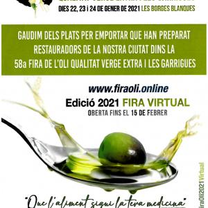 La 58a Fira de l'Oli i les Garrigues serà virtual per a preservar expositors i visitants de la Covid-19